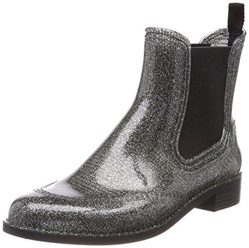 Beck Damen Glitter Schlupfstiefel, Silber (Silber 15), 41 EU