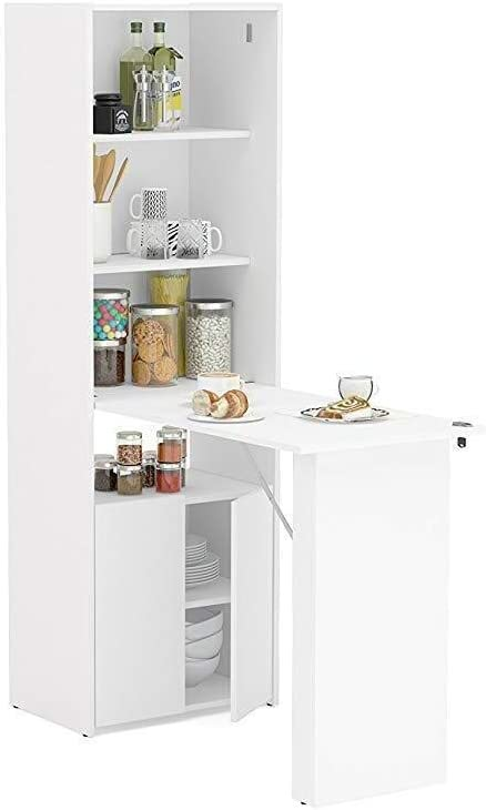 Boahaus Multipurpose Opening large release sale Cabinet White Desk with New product