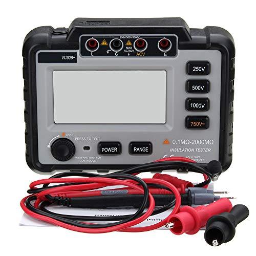 VC60B+ Digital Insulation Resistance Tester Megger MegOhm Meter Electronic 250/500/1000V DC White