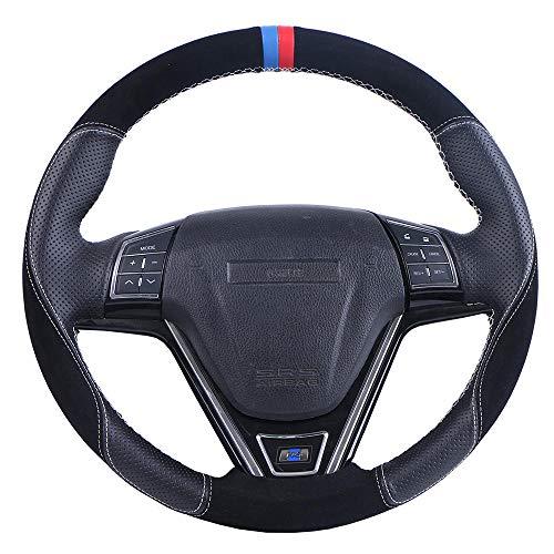 Coprivolante auto in pelle scamosciata, adatto per B-M-W E46 E39 330i 540i 525i 530i 330Ci M3 2001-2003 / Custom Steering Wrap-Nero