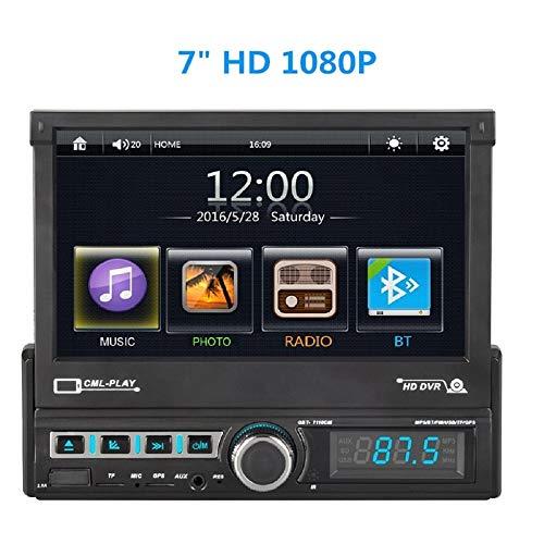 MiCarBa Auto Stereoanlage mit Touchscreen-Display, 7 Zoll mehrfarbiger Touchscreen-Display Audio-System mit Bluetooth für kabelloses Musik-Streaming und Freisprechen