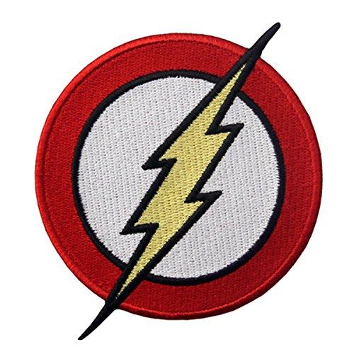 CasStar Aufnaeher Aufbuegler Patches Applikation Buegelbild The Flash Classic Lightning Bolt