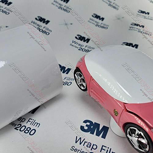 3M Premium Autofolie 3D verformbar mit Luftkanälen, Carwrapping Folie Weiss Glanz 152cm x 25cm, für Blendkeil, Spoiler usw. Neue Serie FAHRZEUGVOLLVERKLEBUNG