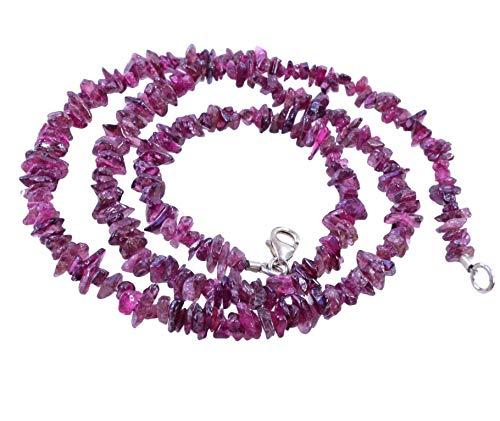 Lebensquelle Plus - Collar de turmalina roja con Cierre (45 cm)