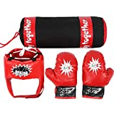 Tbest Kids Boxing Bag, Kids Hanging Fight Training Boxing Sandbag Gloves...