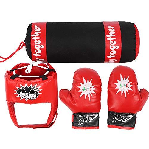 Tbest Kids Boxsack, Kids Hanging Fight Training Boxing Sandsack Handschuhe Helm Kinder Boxsack Set Geschenk für Jungen oder Mädchen