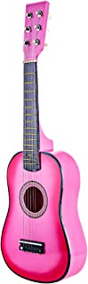 YAKOK Madera Guitarra Niño 6 Cuerdas 23'' Guitarra Juguete para Niños y Niñas 3-10 años (Rosa)