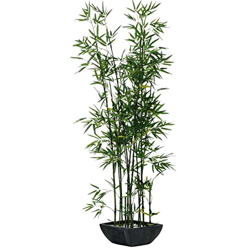 "Kunstpflanze ""Bambus"" mit schwarzem Terrakottatopf"