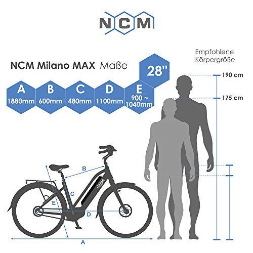 E-Trekkingbike NCM Milano Max EBike Rad 250W Bild 5*