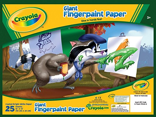 Crayola 993405 25 Count Giant Fingerpaint Paper Pack of 2