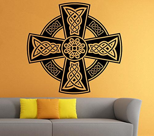 Celtic Cross Wall Decal Celtic Knot Decals Wall Vinyl Sticker Interior Home Decor Vinyl Art Wall Decor Bedroom (5celt)