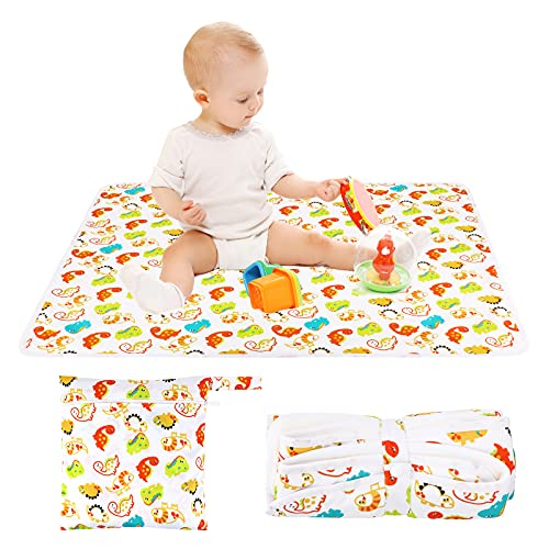 Waterproof Washable Sheet Incontinence Bed Protector Crib Mattress Sheets for Baby Toddler Children Adult Pet Cot Bed NurserySleepSupersoft Pad Silent Night Safe Excellent Liquid Absorption 60x70cm