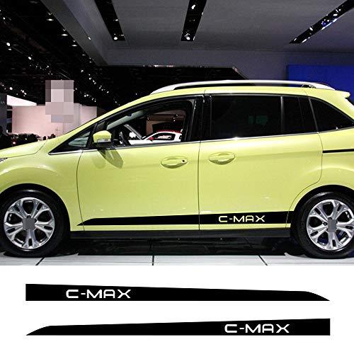 Qwldmj 2 Pz per Ford C-Max Auto Porta Strisce Laterali Adesivi Auto Pellicola del Vinile Fai da Te Sport Styling Decalcomanie Automobile Auto Accessori Tuning