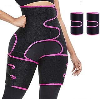 SAULEOO Waist Trainer for Women - High Waist Thigh Trimmer Hip Enhancer Invisible Butt Lifter Shaper for Workout, Training...