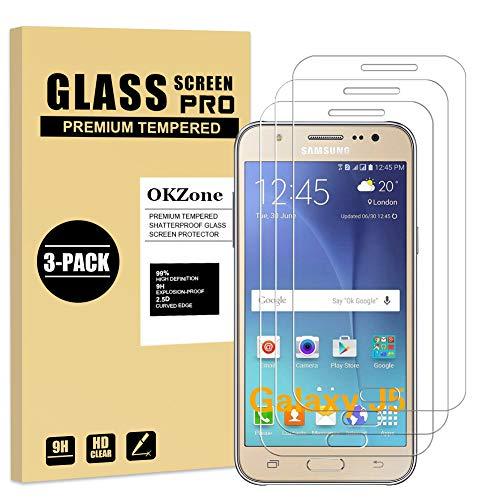 OKZone Protector de Pantalla Pare Samsung Galaxy J5 2015, [3 Unidades] Cristal...
