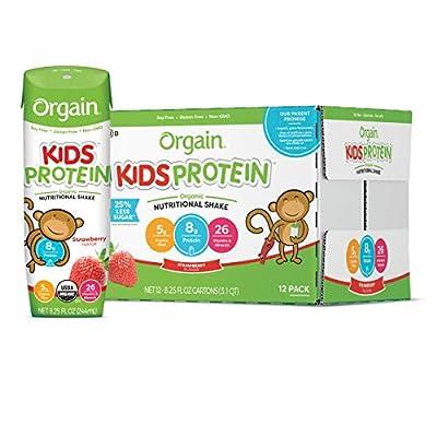 Orgain Kids Protein Organic Nutritional Shake, Gluten Free, Kosher, Non-GMO, 8.25 Ounce, Pack of 12