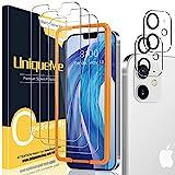 UniqueMe [3+2 Pezzi] Vetro Temperato Compatibile con iPhone 12 6,1 Pellicola Protettiva + [Bubble-Free] Pellicola Fotocamera Compatibile con iPhone 12 6.1 [Facileinstallare][Durezza 9H].