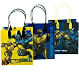 Transformers 12 Party Favor Reusable Goodie Small Gift Bags 6'