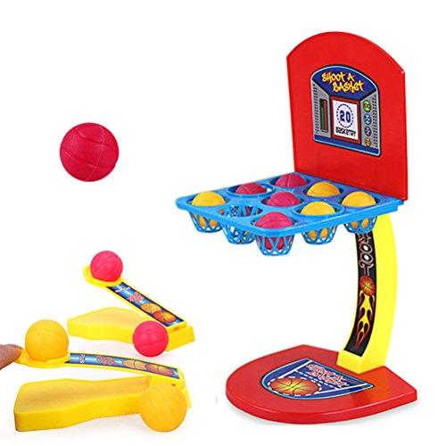 STOBOK Mini Basketballspiel Tisch Basketball Tischspiel für Erwachsene Kinder Finger Schießen Spielzeug (Rot)