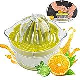 Lemon Orange Squeezer Manual Citrus Lime Squeezer Juicer, Hand Juicer, Fruit Squeezer Presser with Container & Filter Bag, 4 in 1, Dishwasher Safe, Plastic, Ø12.5cm