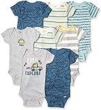 Gerber Body de manga corta para bebé, 8 unidades - azul - 0-3 meses