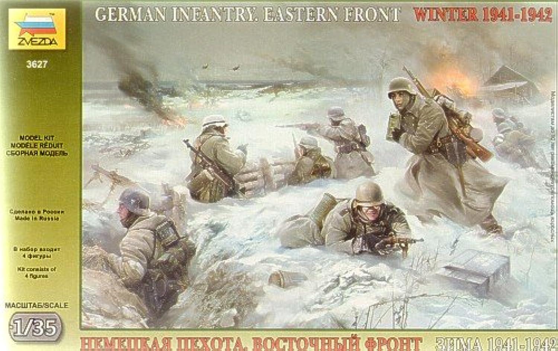 Zvezda 3627 1 35 German Infantry Winter 1941 42Plastic Model Kit