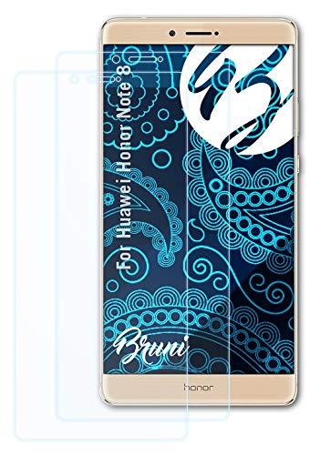 Bruni Schutzfolie kompatibel mit Huawei Honor Note 8 Folie, glasklare Bildschirmschutzfolie (2X)