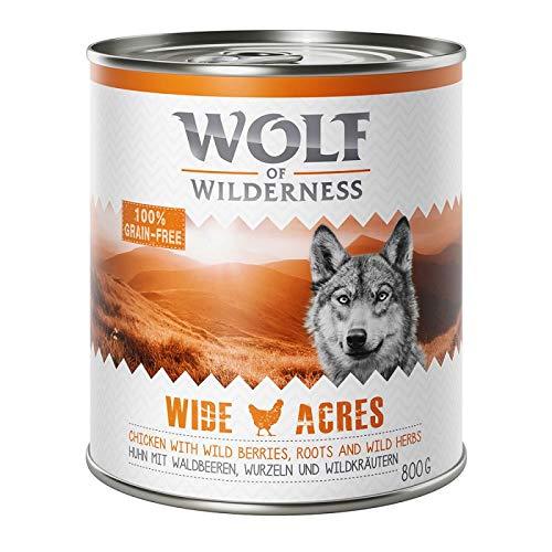 GroßhandelPL Wolf of Wilderness Adult Hunde-Nassfutter Wide Acres - Huhn 48er Pack (48 x 800 g)