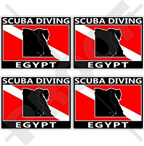 EGYPT SCUBA Duiken Vlag-Egyptische Kaart Vorm 50mm (2