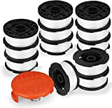Eventronic Line String Trimmer Replacement Spool, 30ft 0.065' Autofeed Replacement Spools for Black+Decker String Trimmers (12-Line Spool + 1 Cap+1 Spring)