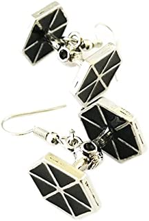 Star Wars Imperial Tie Fighter Dangle Earrings w/Gift Box by Superheroes Brand