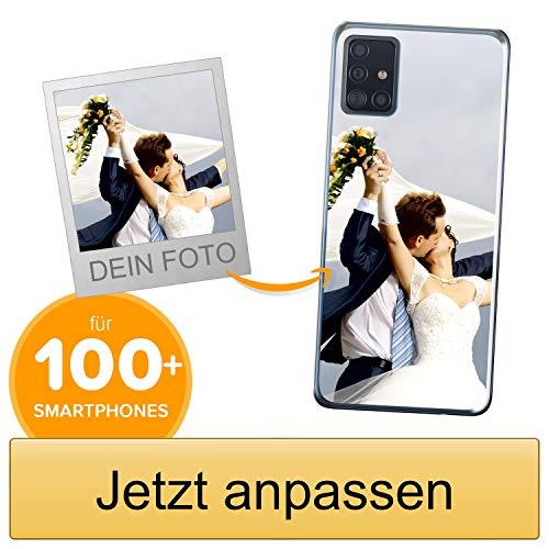 Coverpersonalizzate.it Handyhülle für Samsung Galaxy A51 mit Foto-, Bildern- oder Text selbst gestalten- Die Handyhülle ist aus weichem transparentem TPU-Silikon-Gel Material