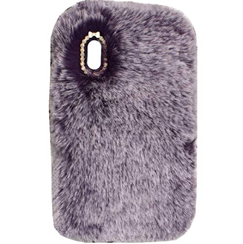iPad Mini3/2/1 Case, Hairy Fluffy Wool Cute Villi Winter Warm Soft New Slim Cover, DANGE Artificial Light Protection Thin Tablet Shell For Apple iPad Mini3/2/1 Purple