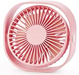 SMALL DESK FAN: Portable lightweight and exquisite design fan. Mini size (approximately: 4.8 inch/5.6 oz) for maximum convenience ULTRA QUIET FAN: USB desk fan is engineered to be ultra-quiet by the silent structure, while delivering high airflow. Qu...