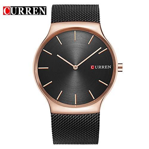 Curren 8256 herenhorloge waterdicht, schokbestendig, stalen horloge, vrijetijdshorloge