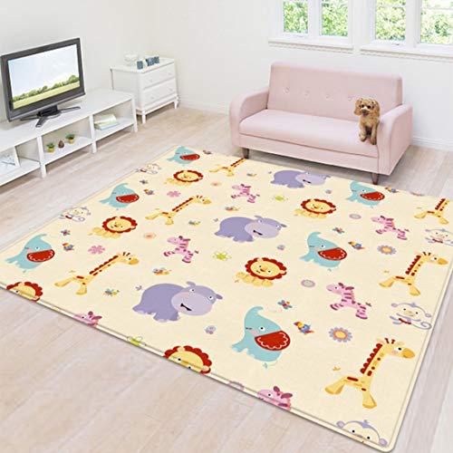 Yavso Yavso - Alfombra de juegos para bebé (200 x 180 x 1 cm, no tóxica, LDPE, antideslizante, resistente al agua por ambos lados) Style-1 Talla:200 x 180 x 1cm