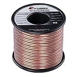 TYUMEN 40 FT Speaker Wire - 2 Conductors 18 Gauge Stranded 99.95% Oxygen Free...