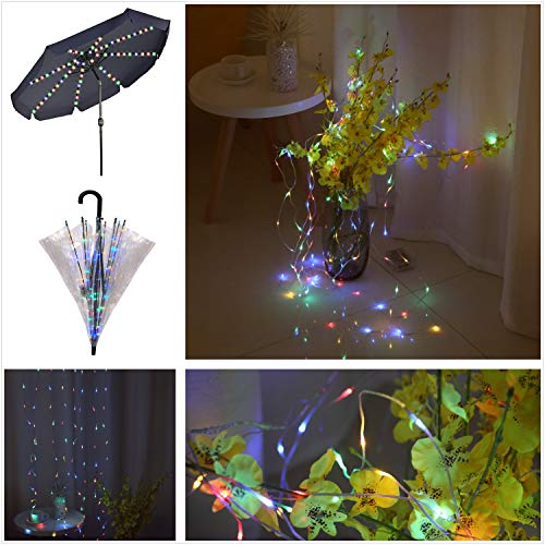 areskey Umbrella String Lights,104 LEDs Colorful Starry Lights for Patio Umbrella,Bubble...