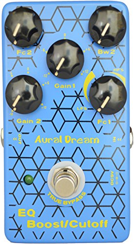 Aural Dream EQ Boost Cut-off Guitar Effect Pedal includes Parameter EQ,Shelf filter and Peak filter with Boost and cutoff functions,True Bypass.