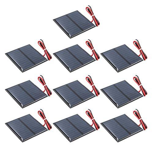perfk 10x Solarpanel Polykristallines Silizium DIY Batterieladegerät G 5,5 V 60 X 60 Mm