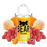 BEAR Flavors - Raspberry & Orange   100ML   Sin Nicotina: 0mg   70VG/30PG   E-Liquido para Cigarrillos Electronicos   Vaper   E Cigarette   E Shisha
