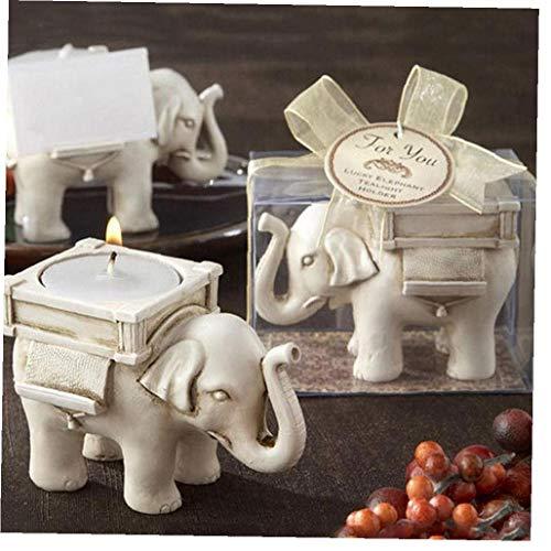 AYRSJCL Retro Elephant lampion Bougeoir Mariage Home Décor thé Artisanat Porte-lumière Oiseau photophore Elephant