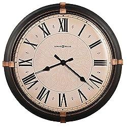 Howard Miller Greenbush Wall-Clocks, Dark Rubbed Bronze
