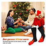 Elektrische beheizte Socken, 1 Paar Batterie warme Socken kaltes Wetter Thermische Socken Sport Outdoor Camping Wandern warme Winter Socken für Männer Frauen - 4