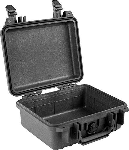 PELI 1200 valise de protection résistante aux chocs pour appareils électroniques et caméras, IP67 étanche à l'eau et à la poussière, capacité de 4L, fabriqué aux États-Unis, sans mousse, noire