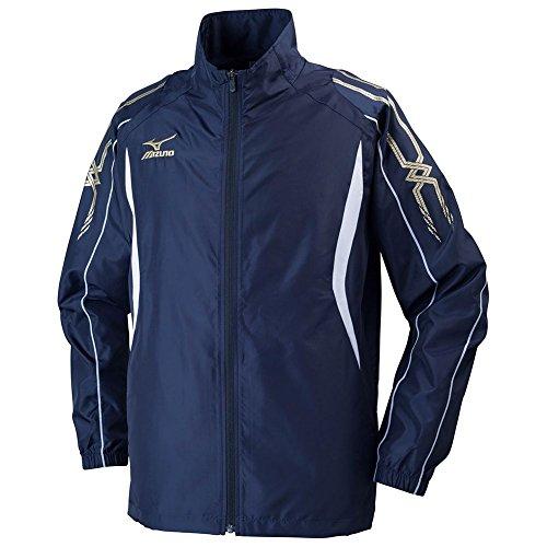 [ミズノ]  トレーニングウェア ウィンドブレーカーシャツ 吸汗速乾 ドライ メンズ 32JE6010 14 ディープネ...