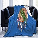 Eileen Powell 50 'x 40' Manta Braco Alemán de Pelo Corto Perros Manta de Navidad Manta de Cama de poliéster Edredón Manta Agradable a la Piel Manta Lavable