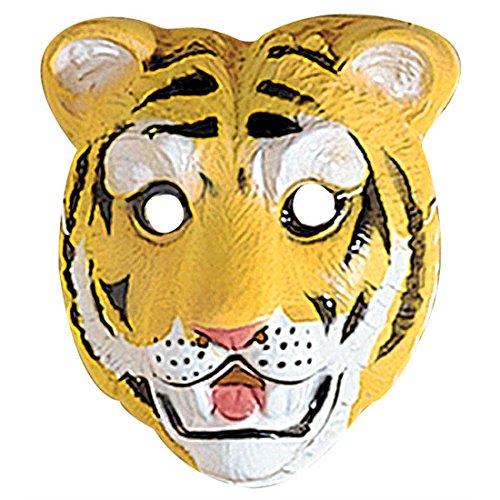 Amakando Masque d'enfant Tigre Animal Chat Sauvage déguisement Visage félin Zoo en Plastique Dur Animal fête de Carnaval Accessoire Anniversaire d'enfants