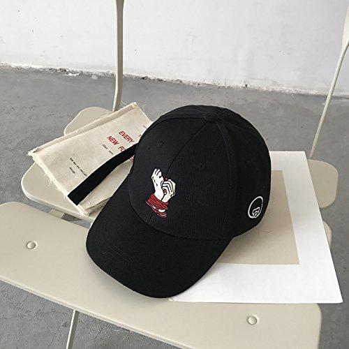 XBR - casquette de baseball, pac, Children's Long Ruban, Duck pac Pays Fashion, la personnalité, la Broderie, Casquette de Base - Ball, à la Mode Hip - hop Hat Man,Black