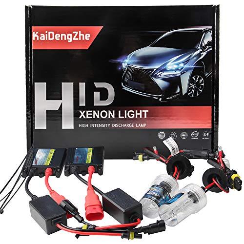 KaiDengZhe 2 Unids Super Brillante Alta Calidad H7 HID Xenon Kit de Conversión + 55W 12V Slim Ballast 6000K